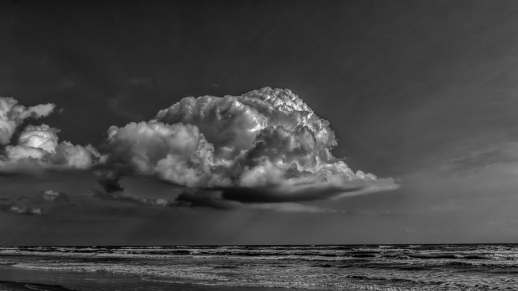 Rain Cloud over North Padre Island